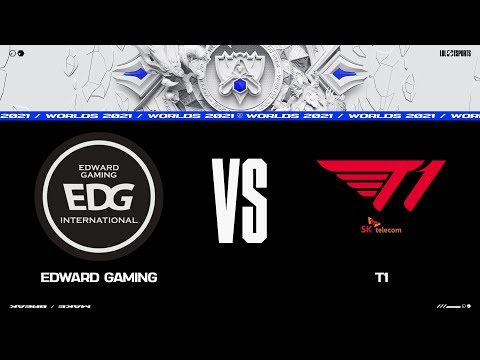 EDG vs. T1   Worlds Group Stage Day 5   Edward Gaming vs. T1 (2021)