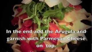 Easy Recipes Pasta Sauce ,tomato Grape,arugula And Parmigiano. By Chefdiego.com