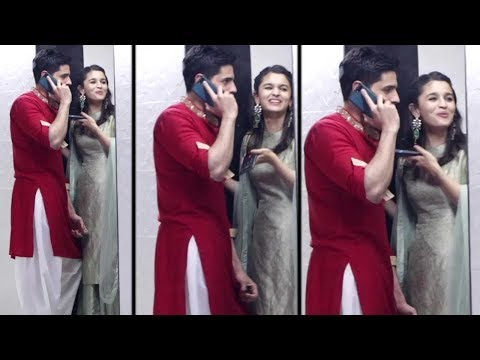 Alia Bhatt & Sidharth Malhotra's CUTE Moments At Sanjay Kapoor's Diwali Party 2017