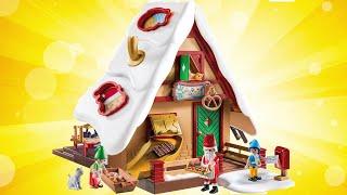 Playmobil Christmas House Speed Build Miniatures Playset #Holiday #GiftIdeas #Playmobil