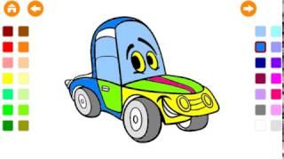 Çocuklar için güvenli ve Eğlenceli boyama çizgi film aktiviteleri.eğlenceli çocuk oyun videosu.