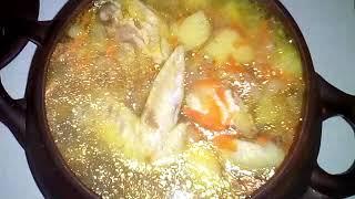 Суп в горшочке из духовки