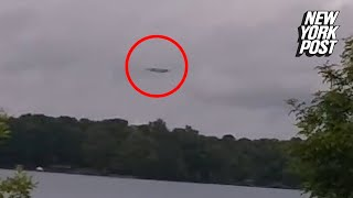 A bizarre object hovering over a lake in North Carolina was capture...