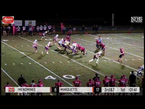 Menominee Vs. Marquette - 2017 Football Highlights On STATE CHAMPS!