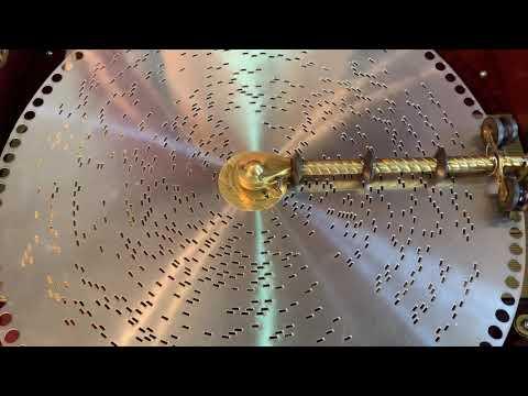 "Regina music box 12 inch disc ""Jingle bell"""