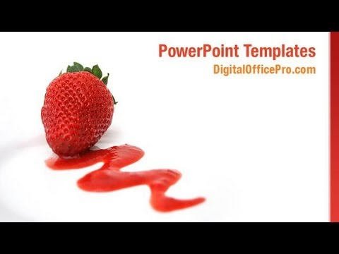 Strawberry Fruit PowerPoint Template Backgrounds - DigitalOfficePro ...