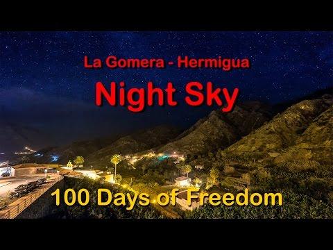 Hermigua Nightsky - La Gomera - Fuji X-T1 & GoPro 4 Black Edition - Full HD - 1080p