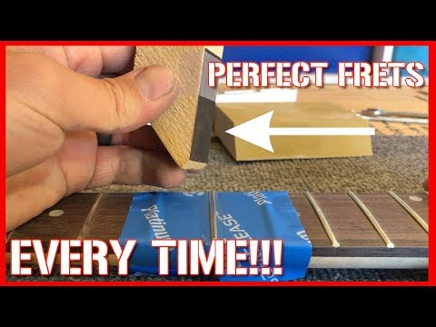 DIY Fret Crowning and Polishing Hack, REAL TIME SAVER!