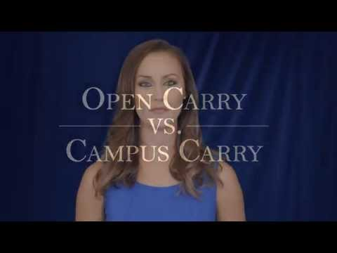 Open Carry Vs. Campus Carry