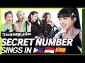 K-POP STARS sing in THREE Languages🎤| INA/TAG/SPN | SECRET NUMBER | TRANSONGLATION