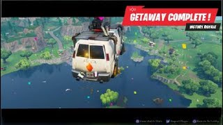 Fortnite the epic get away my first win in the new game mode