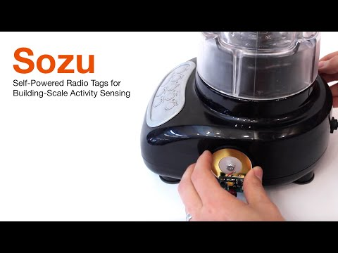 Sozu: Self-Powered Radio Tags for Building-Scale Activity Sensing