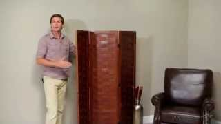 Orimono Woven Wood Room Divider - Walnut - Product Review Video