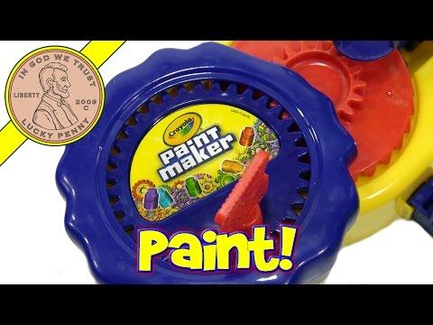Crayola Paint Maker!  LPS-Dave Paints A Picture!