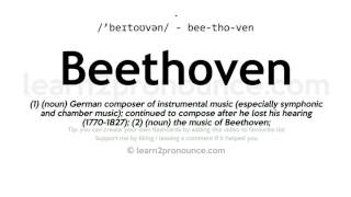 Beethoven pronunciation and definition