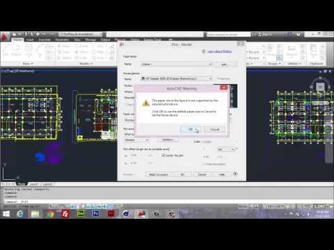 AutoCAD Printing Error Solution