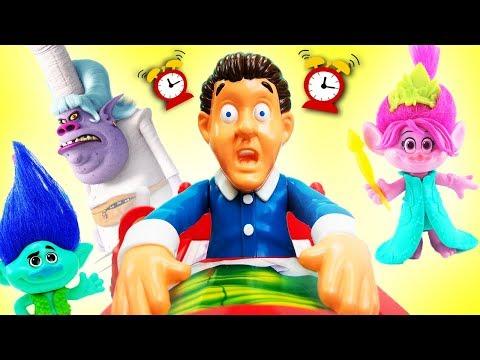 Trolls Don't Wake Daddy Bergen Chef Game w Poppy Branch DJ Suki Fidget Spinner! Learn Colors Numbers