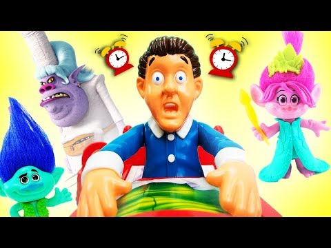 Thumbnail: Trolls Don't Wake Daddy Bergen Chef Game w Poppy Branch DJ Suki Fidget Spinner! Learn Colors Numbers