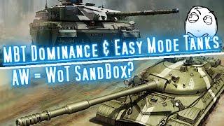AW = WoT SandBox? - ft. T-10 & Challenger 1 || WoT & AW