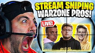 I Stream Sniped Pro Warzone Players! 😨