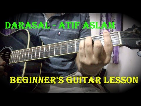 Darasal - Atif Aslam | Easy Guitar Chords - Intro | Raabta | Sushant Singh Rajput & Kirti Sanon