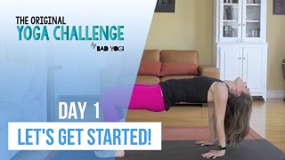 The Original Yoga Challenge - Day 1 - Let