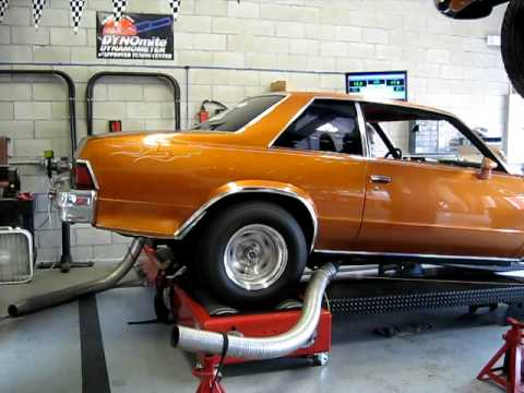 STRIPS RACING 1978 MALIBU RACE CAR DYNO TEST - YouTube