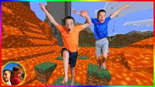 Trapped in Minecraft in Real Life! Mystery Mirror Adventure!