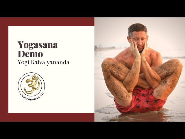 Yogasana Demo by Yogi Kaivalyananda