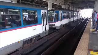 【Guadalupe 駅】から電車が出発します【フィリピンマニラMRT-3】