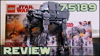 Lego Star Wars 75189 First Order Heavy Assault Walker Review | Обзор Лего Звёздные Войны 75189 AT-M6