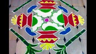 Makar Sankranti Muggulu - 15 - 1 Dots Traditional pongal Rangoli