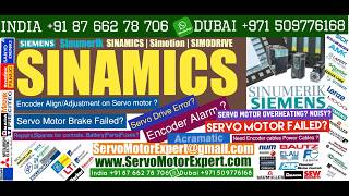 SIEMENS SINAMICS Overheat Fault, servo motor Trip, Drive Shutdown, Motor Encoder Wiring, Resolver