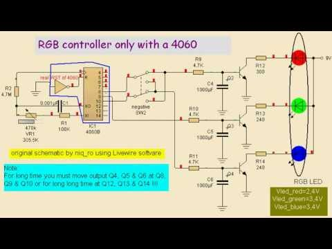 rgb led driver circuit diagram wiring diagram yerrgb led controller only 4060 youtube rgb led driver circuit diagram