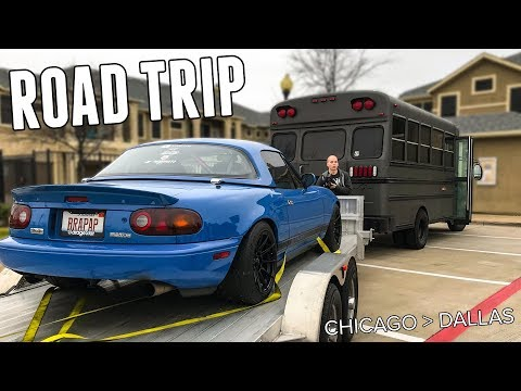 First Road Trip In The New Adventure Bus! - 1000 Miles Chicago To Dallas