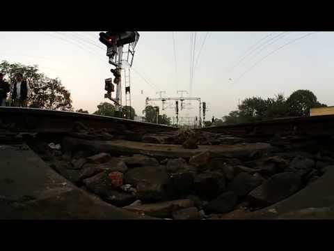 360 degree video of DEMU Local train running on track near New Delhi Railway Station