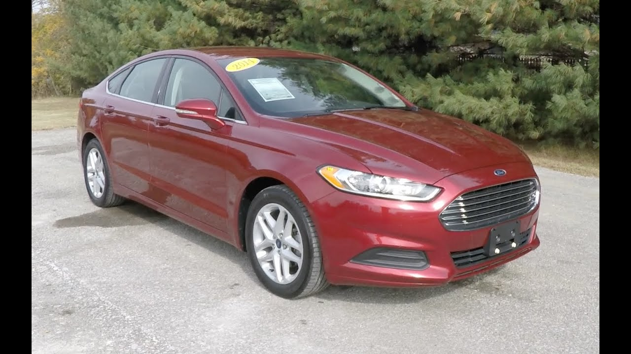 2014 ford fusion se fwd red used fords martinsville. Black Bedroom Furniture Sets. Home Design Ideas