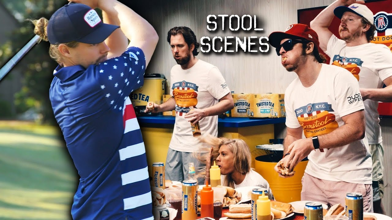 Barstool Employees Inhale Hot Dogs In Competitive Eating