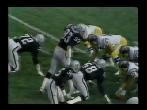 San Diego Chargers vs Oakland Raiders 1981 WK 12