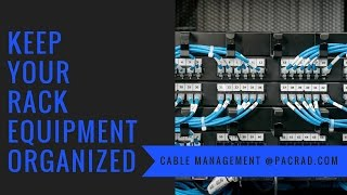 Rack Cable Management - Keep Your Equipment Racks Organized with Cable Lacing Bars