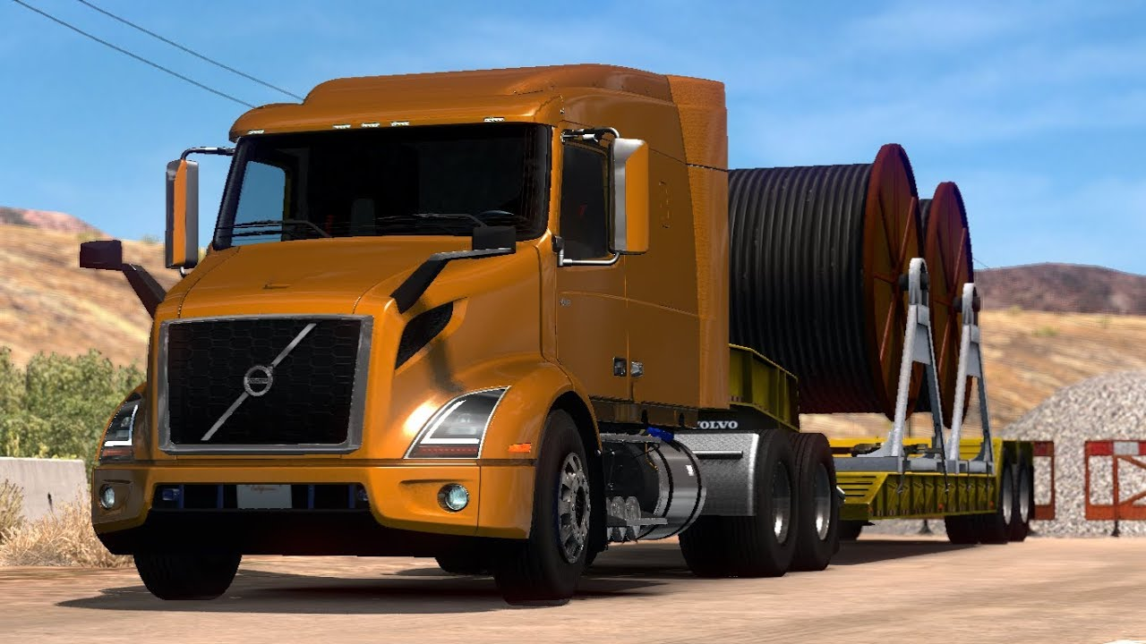 american truck simulator volvo vnr 2018 mods. Black Bedroom Furniture Sets. Home Design Ideas