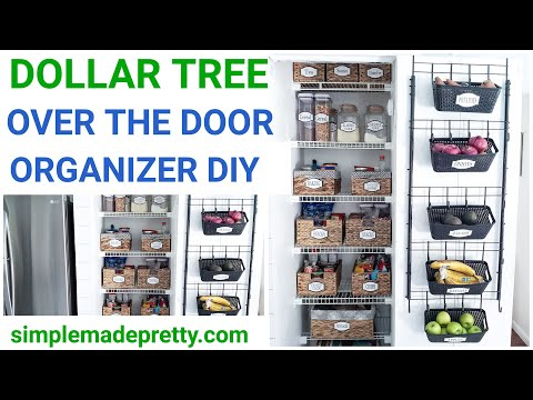 DIY DOLLAR TREE Over the Door Organizer - Back of the door organization, over the door storage