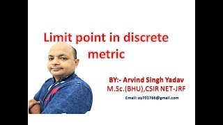 limit point of set in discrete metric space, lecture-16, real analysis