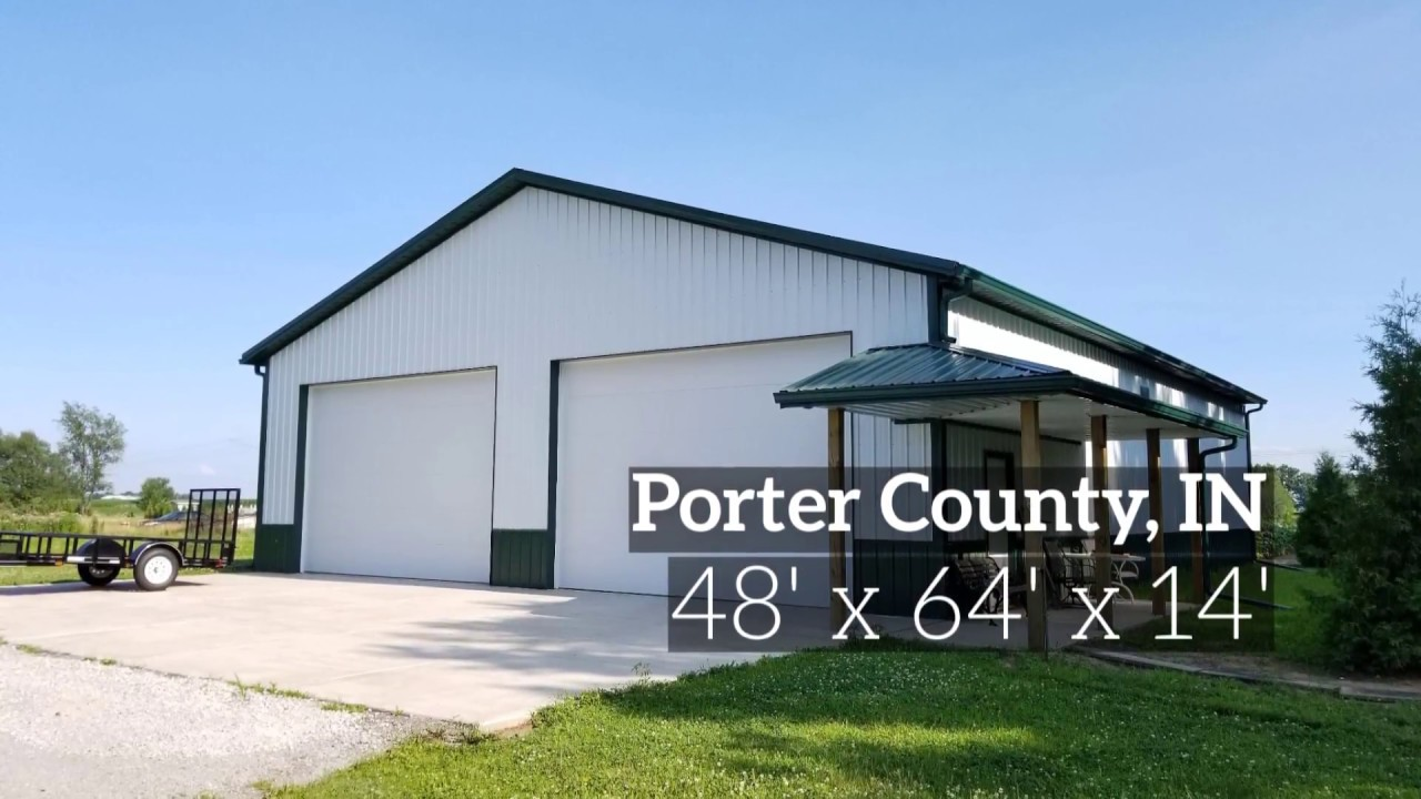 Pole barn shop and garage porter county indiana youtube for Pole barns indiana