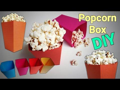 Diy Popcorn Box Template from i.ytimg.com