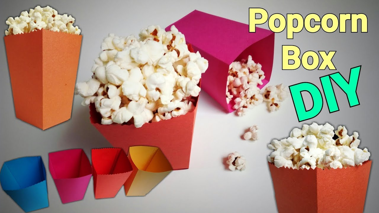 how to draw a 3d popcorn box