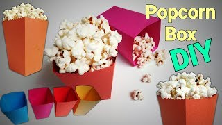 Popcorn Box | How To Make Popcorn Boxes | DIY Popcorn Box | Mini Popcorn box | Paper Popcorn Box