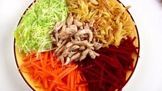 Салат Французский с жареной картошкой \ Обзор ножей CHIBUR