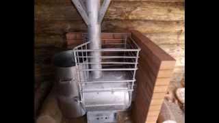 Печь для бани своими руками(Металлическая печь для бани из ресивера от тепловоза., 2013-11-25T05:38:53.000Z)