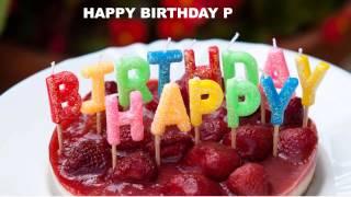 P Birthday Cakes Pasteles